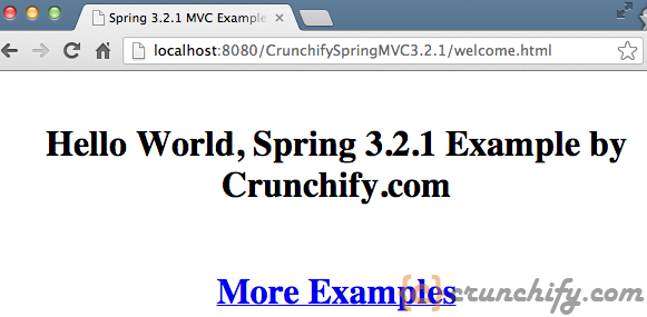 Spring-MVC-Hello-World-welcome.jsp-View-Result