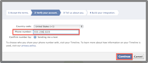 how to get facebook confirm code
