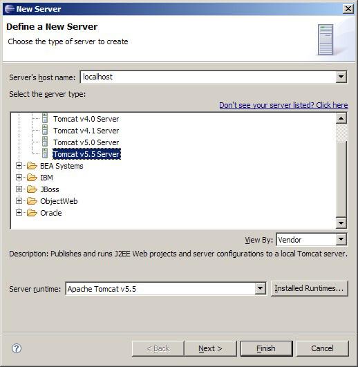 Define a new server
