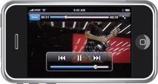 Figure 7 Playing back custom video